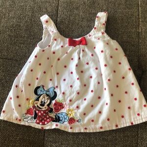 DISNEY girls 6-9 mth Minnie Mouse wrap top